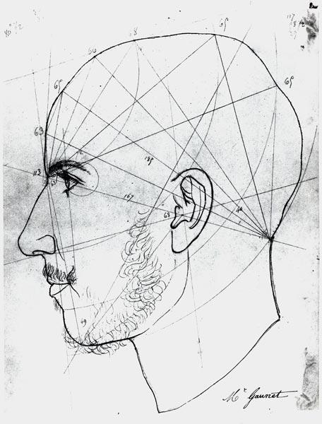Phrenological study from a...