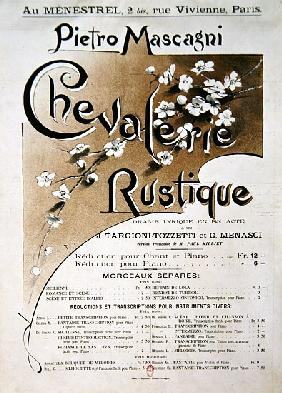 Playbill for the opera ''Chevalerie Rustique'', by Pietro Mascagni (1863-1945)