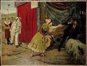 Scene from the opera 'Pagliacci' by Ruggiero Leoncavallo (1857-1919)