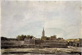 View of a Townscape in Southern France c.1800  on
