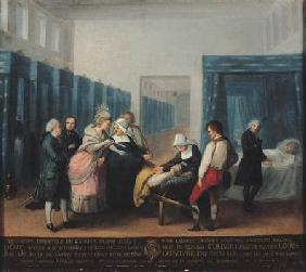 The Visit of Monsieur and Madame Necker to the Hopital de la Charite 1780