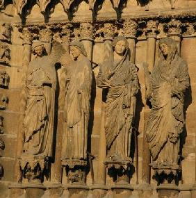 The Visitation, four jamb figures from the West Facade of the Cathedral c.1230-40