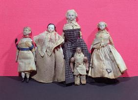 Collection of dolls, possibly used by Honore de Balzac (1799-1850) as an aide memoire for 'La Comedi 18th