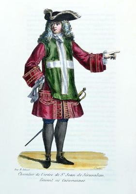 Knight of the Order of St. John of Jerusalem, illustration from 'History and Costumes of Monastic Or 19th