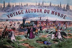 'Le Voyage Autour du Monde', cover of a box for a game based on 'Around the World in 80 Days' by Jul 18th