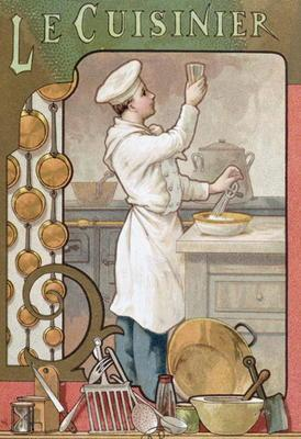 The Cook, c.1899 (colour litho) 1700