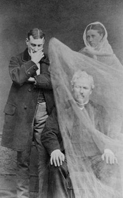 The ghost of a man's wife appears before him, c.1870 (b/w photo) 18th