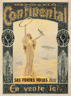Advertising poster for Continental bicycle tyres c.1900