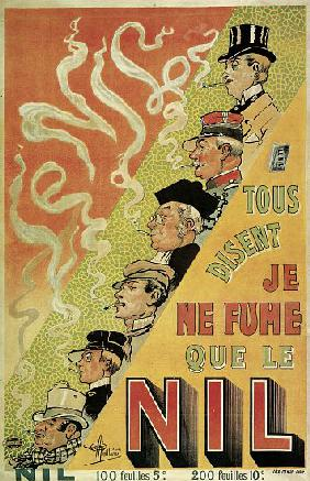 Poster advertising 'Nilum' cigarette papers 1905