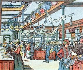 The Department Store, illustration from 'Cours Schweiter', c.1900 (colour litho) 1928
