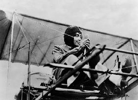 Helene Dutrieu in her plane c.1911