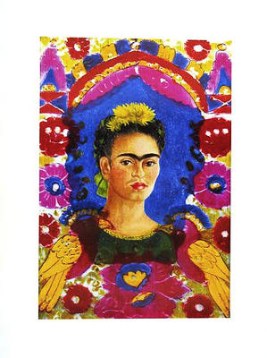 the frame frida kahlo als kunstdruck oder handgemaltes gem lde. Black Bedroom Furniture Sets. Home Design Ideas
