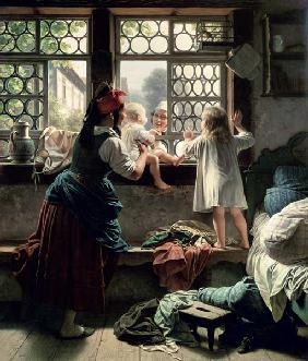 Kunstdruck von Friedrich Eduard Meyerheim - Good Morning, Dear Father
