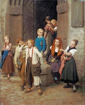 Kunstdruck von Friedrich Eduard Meyerheim - Wer den Schaden hat, braucht für den Spott nicht zu sorgen