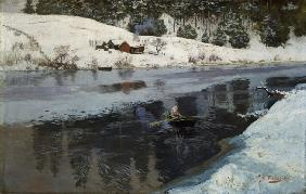Winter am Fluss Simoa 1883