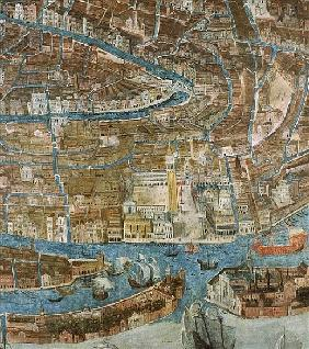 Map of Venice, first half of 17th century (detail of 64062)