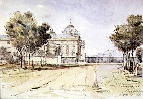 View of the Ecole Militaire in Paris 1831  on