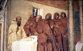Taking Communion, from the Life of St. Benedict