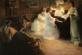 Young Girls at a Piano 1906