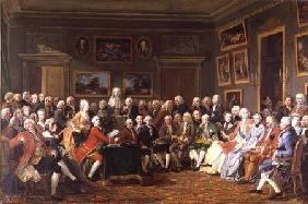 Reading of the Tragedy 'L'Orphelin de la Chine' in the Salon of Madame Geoffrin, or An Evening at Ma 1812