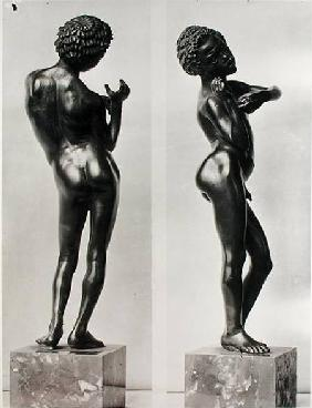 Back and side view of a young ethiopian slave, from Chalon-sur-Saone 1st centur