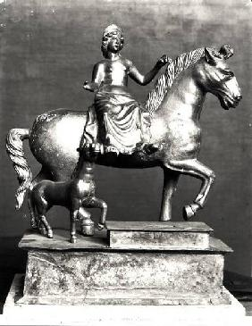 Statuette of Epona, Gaulish Goddess, protector of horses, riders and travellers, from La Sarrazine, c.50 BC-40