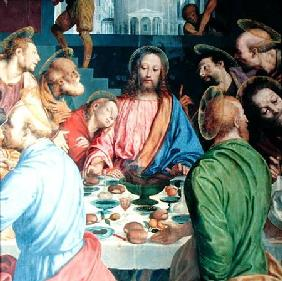 The Last Supper, detail of Christ