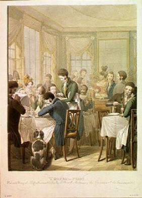 The Restaurant in the Palais Royal 1831  on
