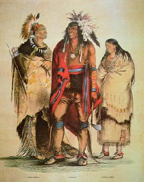 North American Indians (colour litho) 19th
