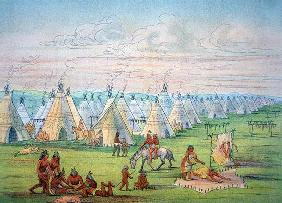 Sioux Camp Scene, 1841 (w/c & ink on paper) 19th