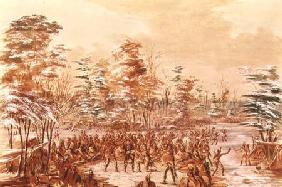 De Tonty Suing for Peace in the Iroquois Village in January 1680 1847-48