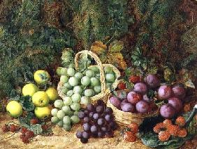 Still Life with Apples and Baskets of Grapes and Plums  (pair of 89392)