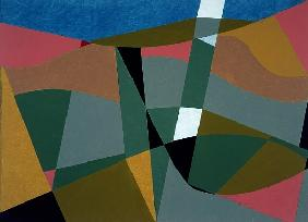 Shafted Landscape, 2001 (oil on board)