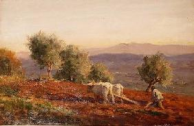 Where Virgil Sang, Man Ploughing 1912