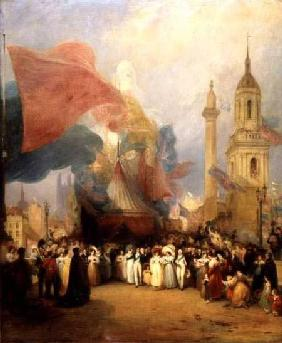 The Royal Procession at the Opening of London Bridge 1831