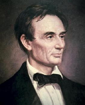 Abraham Lincoln (1809-60) (oil on canvas)