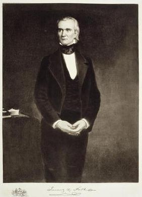 James K. Polk (1795-1849), 11th President of the United States of America, pub. 1901 (photogravure)