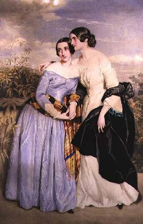 Mrs Partridge and her sister Miss Croker c.1850