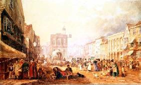 Maidstone High Street from Gabriel's Hill 1829