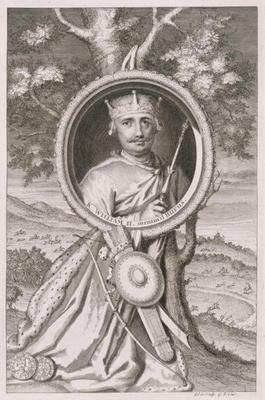 William II 'Rufus' (c.1056-1100) King of England from 1087, engraved by the artist (engraving) 17th