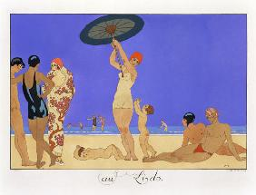 At the Lido, engraved by Henri Reidel, 1920 (litho) 1849
