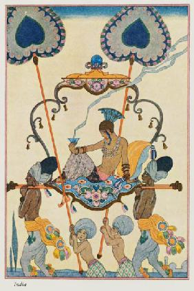 India, from 'The Art of Perfume', pub. 1912 (pochoir print) 19th