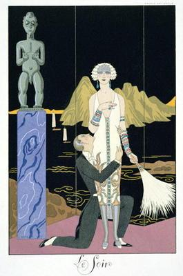 Night, 1925 (pochoir print) 19th