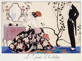 The Backless Dress, engraved by Henri Reidel, 1920 (colour litho) 18th