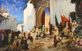 Entry of the Sharif of Ouezzane into the Mosque, 1876 (oil on canvas) 1901