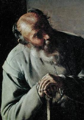 An Old Man, detail of the head c.1618-19