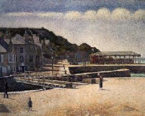 The Harbour and the Quays at Port-en-Bessin 1888