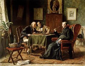 Kunstdruck von Gerard Portielje - Beim Schachspiel