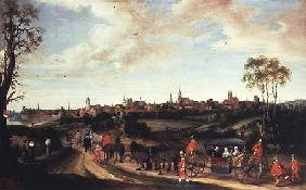 The Dutch Envoy Adriaan Pauw arriving at Munster 1648