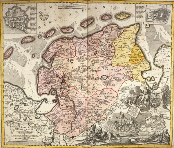 landkarte von ostfriesland 1730 gerhard coldewey ehrenreich als kunstdruck oder handgemaltes. Black Bedroom Furniture Sets. Home Design Ideas